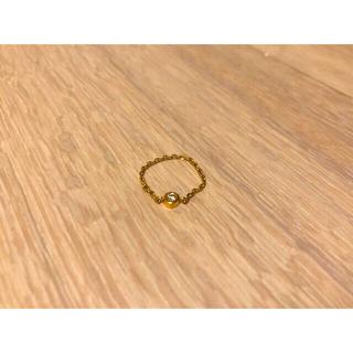 ココシュニック(COCOSHNIK)のCOCOSHNIK K10イエローゴールド ダイヤリング(リング(指輪))