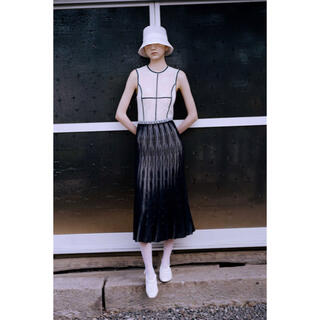 mame - 新品 Frosted Glass Graphic Knitted Dress