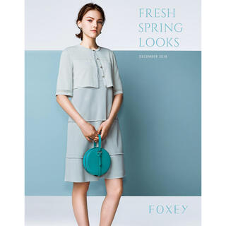 FOXEY - 美品 フォクシー ニット ワンピース  38 White Step グレージュ