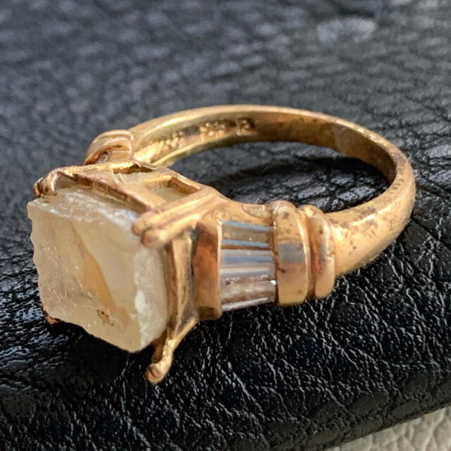 50's伊!ローマングラス!幻想的なスクエアリング レディースのアクセサリー(リング(指輪))の商品写真