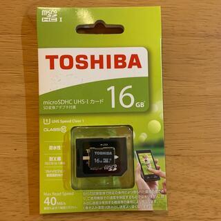 トウシバ(東芝)の【TOSHIBA】microSDHC UHS-I カード 16GB(その他)