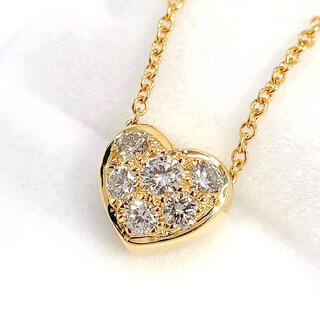 Tiffany & Co. - ティファニー ネックレス TIFFANY ハート ダイヤモンド K18 750