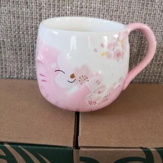 Starbucks Coffee - スターバックス マグカップ ピンク 桜 猫 コーヒーコップ