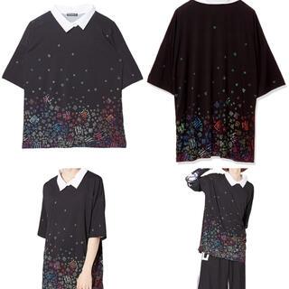 アンコロック(ankoROCK)のアンコロック 病みかわいい バラバラシャツ 襟Tシャツ Fサイズ(Tシャツ(半袖/袖なし))