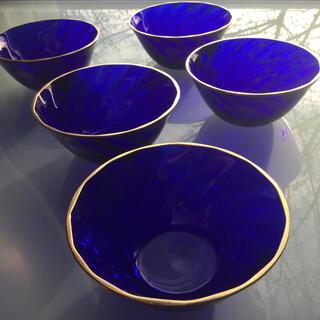 タチキチ(たち吉)のたち吉 ガラス 食器 デザート アイスクリーム ガラス小鉢 5個 まとめ売り(食器)