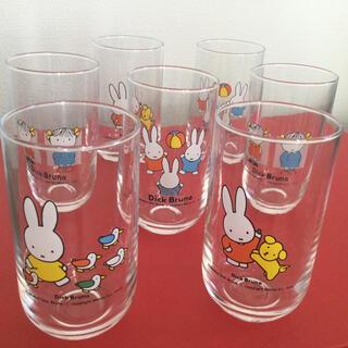ガラスコップ ミッフィー グラス 7個 まとめ売り(グラス/カップ)