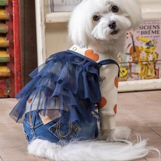 アズノゥアズオオラカ(AS KNOW AS olaca)のアズノゥアズ シアーダンドールキャミ 犬 ペット ペット服 ネイビー(犬)