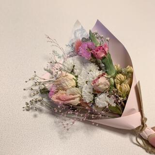 ドライフラワー 春色スワッグ 56 母の日 ピンク 花束(ドライフラワー)
