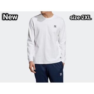 adidas - 新品 2XL adidas originals ロンT ワッペン 白