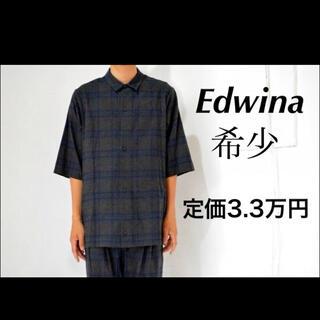 エドウィナホール(Edwina Hoerl)の美品 エドウィナ ホール Edwina Horl  チェックシャツ グレー 半袖(シャツ)