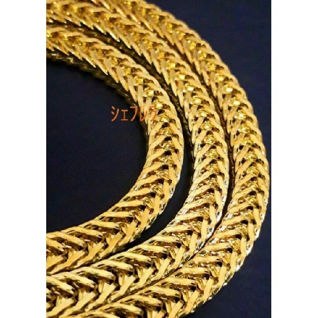 【18K刻印入り】フランコチェーン ゴールド マイアミ キューバン 金色 メンズのアクセサリー(ネックレス)の商品写真