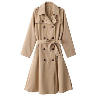 グレイル(GRL)のGRL ロングトレンチコート ベージュ 韓国ファッション カジュアル アウター(トレンチコート)