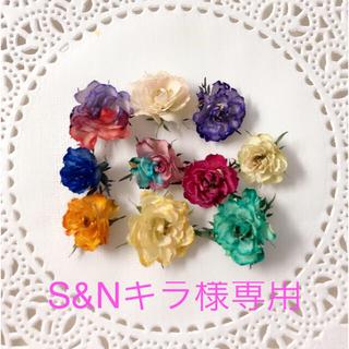 【S&Nキラ様専用】ドライフラワー素材 リトルウッズ 染めヘッド (各種パーツ)