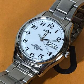 セイコー(SEIKO)のSEIKO セイコー ALBA メンズ V158-0AX0 ホワイト ソーラー(腕時計(アナログ))