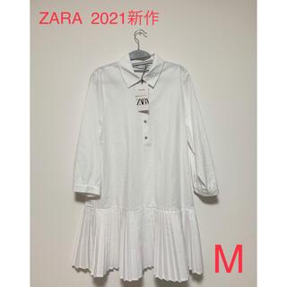 ザラ(ZARA)のZARA 2021新作 プリーツ スカート シャツワンピ(ミニワンピース)