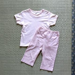 ムジルシリョウヒン(MUJI (無印良品))の無印良品 半袖パジャマ 七分丈 女の子 100cm(パジャマ)