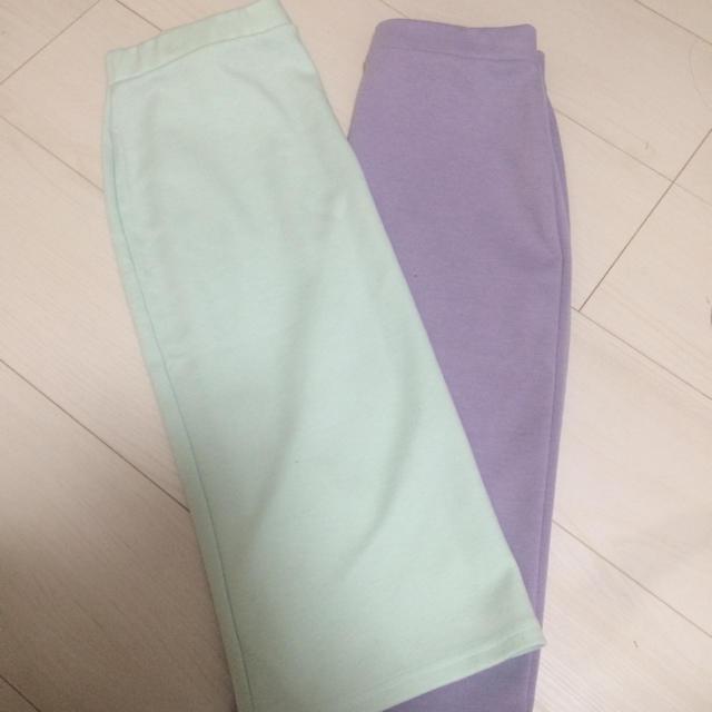 MURUA(ムルーア)のMURUA パステルカラースカート レディースのスカート(ひざ丈スカート)の商品写真