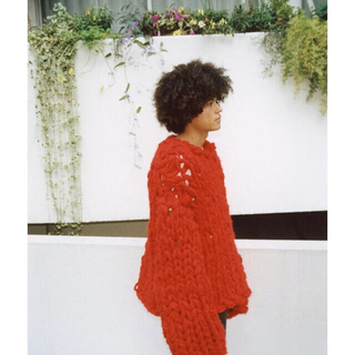 RAF SIMONS - kota gushiken knit