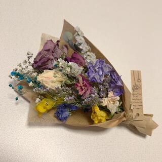 ドライフラワー バラと小花のスワッグ 57 アンティーク パープル(ドライフラワー)