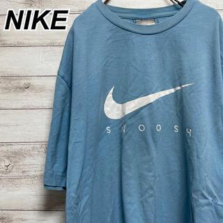 ナイキ(NIKE)のLサイズ 古着 ナイキ 半袖 Tシャツ シンプル スモーキーブルー くすみカラー(Tシャツ/カットソー(半袖/袖なし))