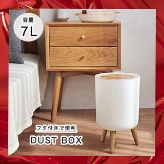 ゴミ箱 ダストボックス おしゃれ 蓋付き 臭い漏れ防止 ブッシュ式 脚付き (ごみ箱)