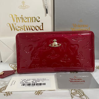 Vivienne Westwood - Vivienne Westwood エナメル 長財布 赤 レッド  ウォレット