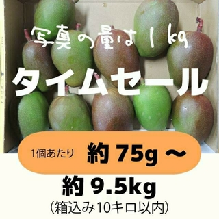 [セール:橙]約9.5キロ グリーンマンゴー 青マンゴー 加工用 マンゴー(フルーツ)