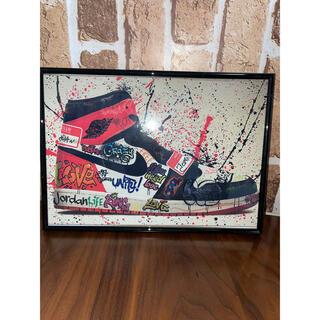 スニーカー ポスター AJ1 A4サイズ(ポスターフレーム)