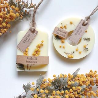 香りが選べるアロマワックスサシェ2点セット*mimosa(アロマ/キャンドル)