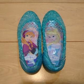 ディズニー(Disney)の☆バレエサンダル☆17cm アナと雪の女王 ガラスの靴 中古品(サンダル)