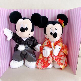 ディズニー(Disney)の★c♡様専用★和装ミッキー、ミニーぬいぐるみ*【新品未使用】(キャラクターグッズ)