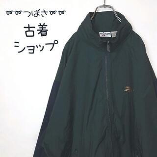 リーボック(Reebok)の【90年代】Reebok ナイロンジャケット 刺繍 ベクターロゴ バイカラー 緑(ナイロンジャケット)