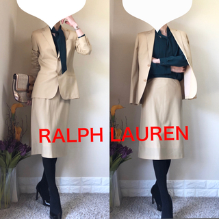 ラルフローレン(Ralph Lauren)の美品!ラルフローレン 高級 セットアップ スーツ 美脚タイトスカート 9号 M(スーツ)