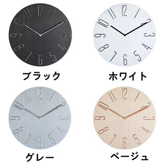 壁掛け時計 掛け時計 時計 壁掛け 壁掛 立体数字 3D 北欧 おしゃれ 静音 (掛時計/柱時計)