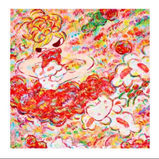 即発送! ロッカクアヤコ 魔法の手 大きなバンダナ 手ぬぐい(絵画/タペストリー)