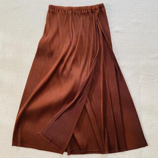イッセイミヤケ(ISSEY MIYAKE)のISSEY MIYAKE イッセイミヤケ プリーツ巻きスカート サイズ2(ロングスカート)