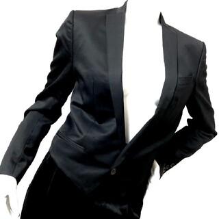 アトウ(ato)の【ato】アトウ ショート丈 デザインジャケット ブラック(テーラードジャケット)