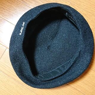 ミルク(MILK)のMILK☆Summerベレー帽 黒(ハンチング/ベレー帽)