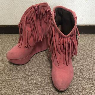 アニタアレンバーグ(ANITA ARENBERG)のANITA ARENBERG ウェッジソール ウエスタン ショートブーツ(ブーツ)