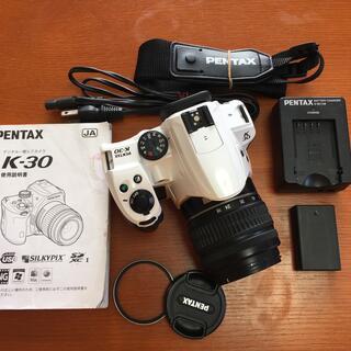 PENTAX - PENTAX  K-30 ホワイト 標準ズームレンズキット 実用中古 並品
