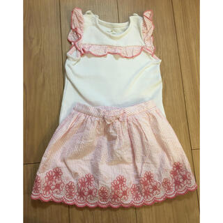 ケイトスペードニューヨーク(kate spade new york)の美品!ケイトスペードのノースリーブTシャツとスカートのセット(Tシャツ)