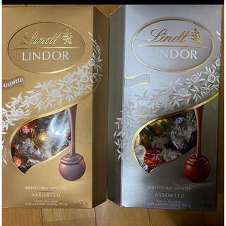 リンツ(Lindt)のリンツLindtリンドール★チョコレート★お試しセット★7種7個ミルク&ホワイト(菓子/デザート)