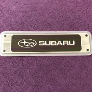 スバル - SUBARU スバル純正 ロゴステッカー ヘアライン調