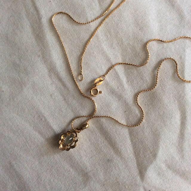 ジュエリーマキ(ジュエリーマキ)のK18  アクアマリン  ネックレス   レディースのアクセサリー(ネックレス)の商品写真