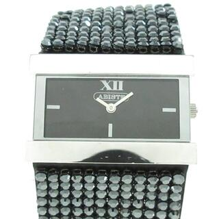 アビステ(ABISTE)のアビステ - レディース ラインストーン 黒(腕時計)
