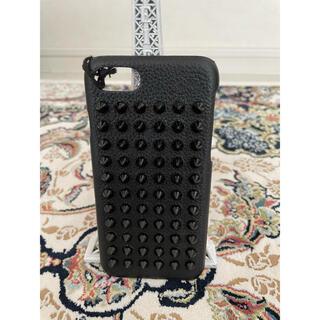クリスチャンルブタン(Christian Louboutin)のルブタン  iPhoneカバー ブラック&ブラックスパイク(iPhoneケース)