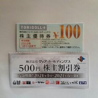 ヴィア・ホールディングス&トリドールお食事券No.11(レストラン/食事券)
