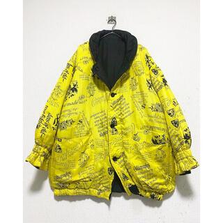 ヨウジヤマモト(Yohji Yamamoto)のリバーシブル vintage 90s ブラック 変形 総柄 ブルゾン ジャケット(ブルゾン)