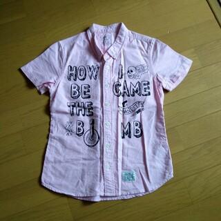 アズールバイマウジー(AZUL by moussy)のアズール 140 半袖シャツ ピンク(Tシャツ/カットソー)