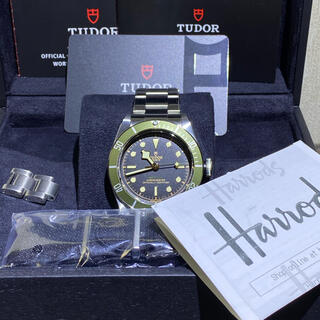 Tudor - 【激レア】新品 ハロッズ限定 チューダー ブラックベイ グリーンベゼル